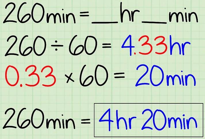 """五分钟包你学会时间单位换算:分钟与小时""""/"""